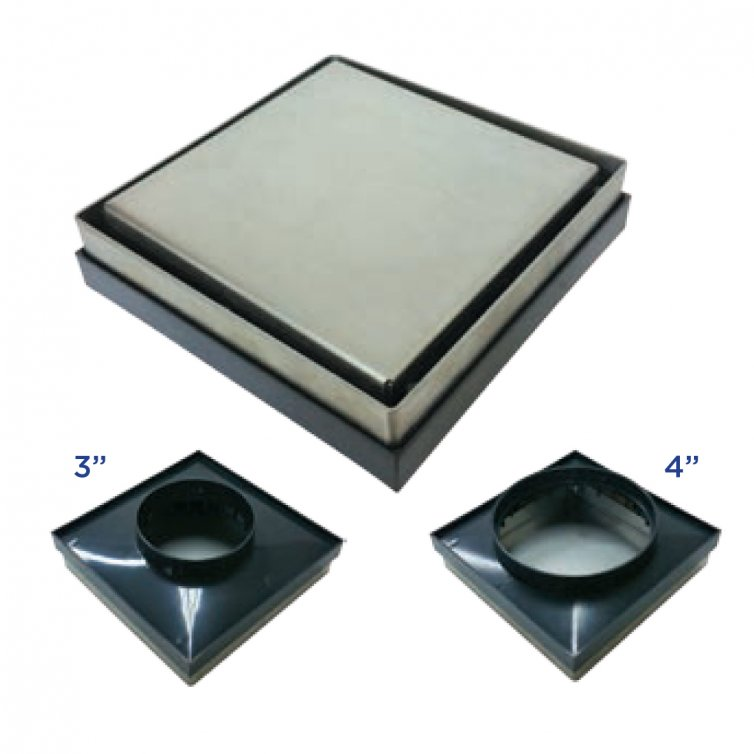 Stainless Steel Recess-Floor Trap For Tiles