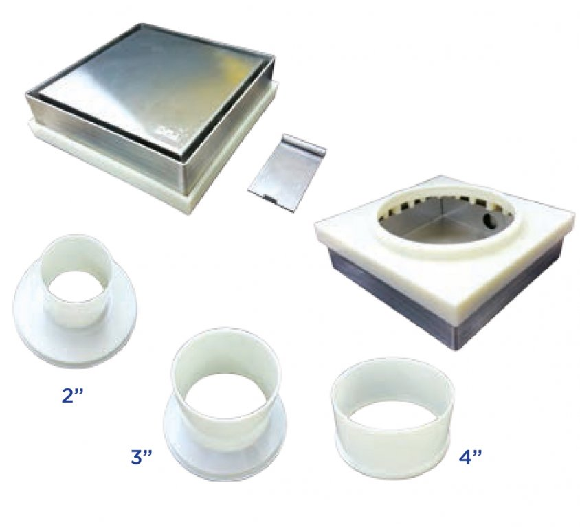 Stainless Steel Recess Floor Trap For Marble Tiles